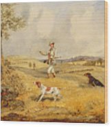 Partridge Shooting  Wood Print
