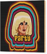 Party Wood Print