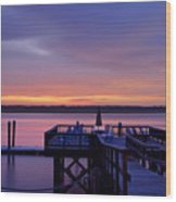 Party Dock Wood Print