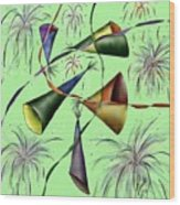 Party Hat Abstract  Wood Print