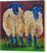 Party Sheep Wood Print
