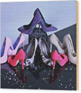 Party Shoes Wood Print