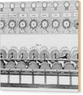 Pascal's Calculator, 17th Century Artwork Wood Print by Library Of Congress