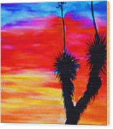 Paso Del Norte Sunset 1 Wood Print