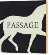 Passage Negative Wood Print