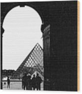 Passage To The Louvre Wood Print
