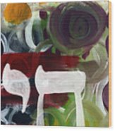 Passages 2- Abstract Art By Linda Woods Wood Print