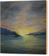 Passageway Sunrise Wood Print