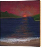 Passageway Sunset Wood Print