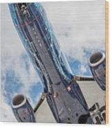 Passenger Jet Coming In For Landing 3 Wood Print