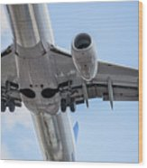 Passenger Jet Coming In For Landing 7 Wood Print