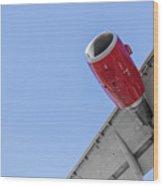 Passenger Jet Coming In For Landing 8 Wood Print