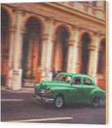 Passing By On El Prado 2 Wood Print