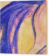 Passing Purple Wood Print