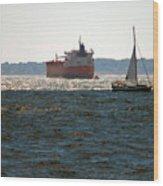 Passing Ships Wood Print