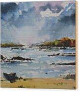 Passing Storm At Lahinch Wood Print