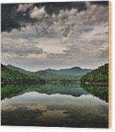 Passing Storm Over Lake Hiwassee Wood Print