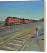 Passing Train Wood Print