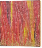 Passion Fire Wood Print