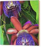Passion Flower Ver. 12 Wood Print