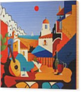 Passion For Life Spain Wood Print
