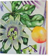 Passion In The Tropics Wood Print