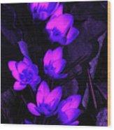 Passionate Blooms Wood Print