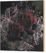 Passionate Roses 02 Wood Print