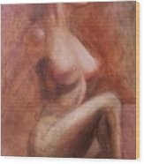 Passionate Woman Wood Print