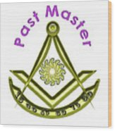 Past Master In White Wood Print