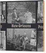 Past New Orleans People Wood Print