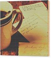 Past Postcard Preoccupations  Wood Print