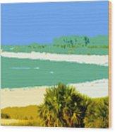 Pastel Beach Wood Print