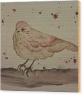 Pastel Bird Wood Print by Ginny Youngblood