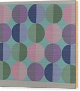 Pastel Cirles Wood Print