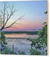 Pastel Clear Lake 3 Wood Print