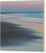 Pastel Dawn On Plum Island Sands Wood Print