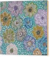 Pastel Floral Garden Wood Print