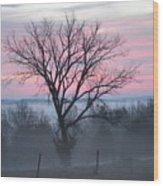 Pastel Fog Wood Print