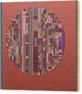 Pastel Globe 8-21-2015 #1 Wood Print