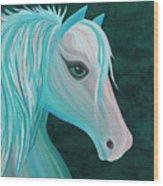 Pastel Horse Wood Print