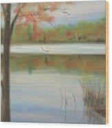 Pastel Lake Wood Print