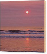 Pastel  Pink Sunrise Wood Print