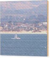 Pastel Sail Wood Print