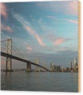 Pastel San Francisco Sunrise Wood Print