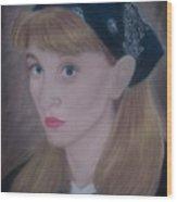 Pastel Self Portrait Wood Print