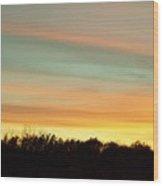 Pastel Sky Wood Print