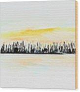 Pastel Smmer Sky Wood Print