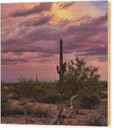 Pastel Sonoran Skies At Sunset  Wood Print