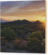 Pastel Sonoran Skies  Wood Print